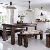 Wansbeck Solid Wood Dining Table with Drawer | Handmade
